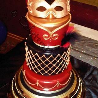 Masquerade cake - Cake by Cake Temptations (Julie Talbott)