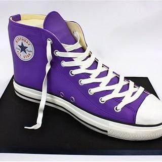 Purple Converse All Star Cake
