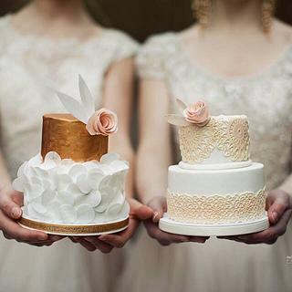 Mini bridal cakes