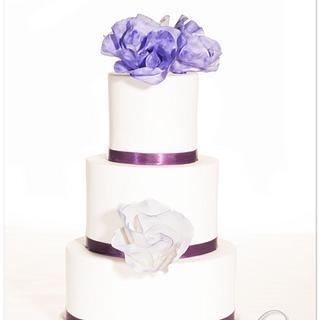 """""""Classic Rose"""" design in purple"""