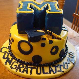 University of Michigan Cake - Cake by Sara's Cake House