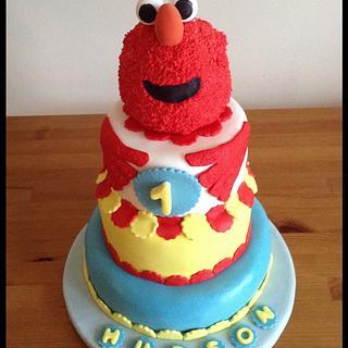 Hudson's ELMO 1st Birthday Cake
