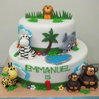 Jungle-themed cake - Cake by Valory
