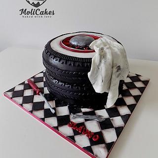 Cake for a car mechanic