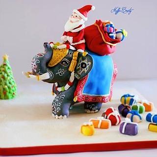 Santa and a Baby Elephant