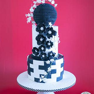 A Bold Ball Wedding Cake