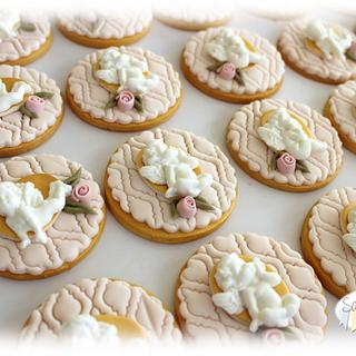 First Communion angels cookies