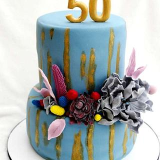 k 50tým narozeninám - Cake by Táji Cakes