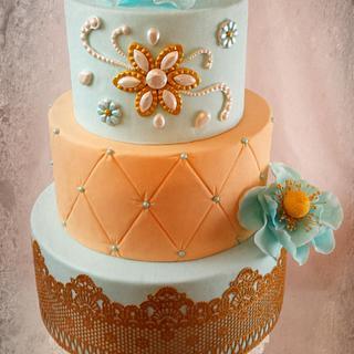 Wedding Cake in pastell