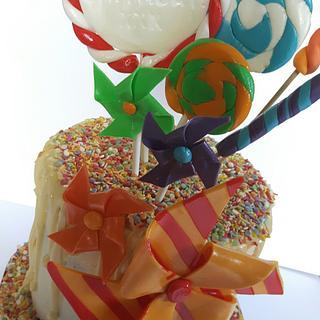Fun drip cake - Cake by Ballderdash & Bunting