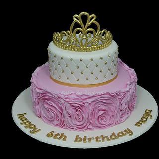 Princess Rose Ruffle Birthday Cake - Cake by Cakes by Vivienne
