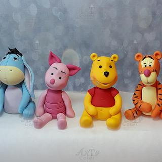 Winne the pooh gang by Arty cakes
