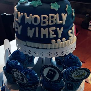 Dr. Who Cake and Cupcakes