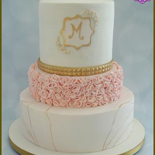 A Touch of Gold - Cake by BakedbyBeth