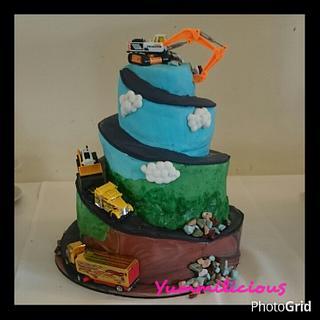 Earthmoving Spiral Cake