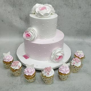 Pretty in Pink  - Cake by Michelle's Sweet Temptation