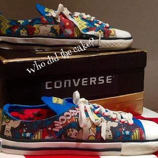Wonder Woman, converse shoe cake