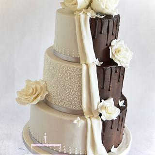 Romantic - chocolate wedding cake