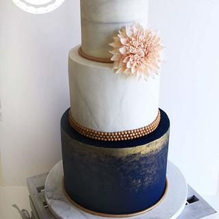 Marble effect Wedding Cake - Cake by Cakes by Lynzie