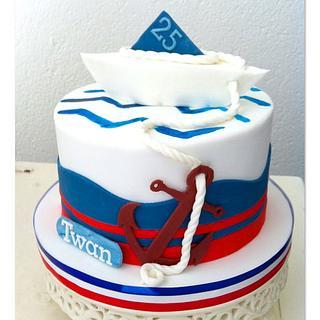 Nautic Cake - Cake by Olivia's Bakery
