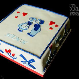 Delfts blauw, dutch cake