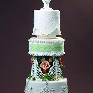 Vintage wedding cake - Cake by Cakes by Beatriz