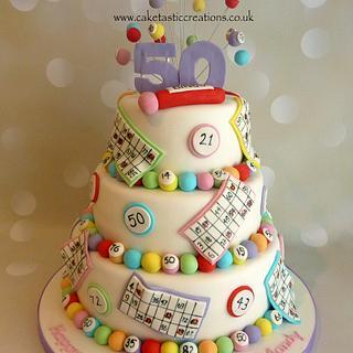 Bingo themed Birthday Cake