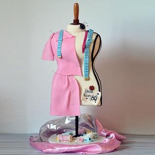Dress Form Mannequin cake - torta maniquí costura 100% edible