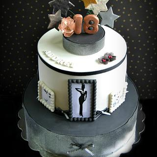 Audrey Hepburn-inspired 18th birthday celebration - Cake by miettes