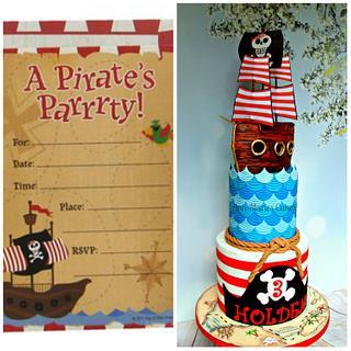 Pirate Ship and Pattern cake