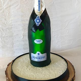 wine bottle cake