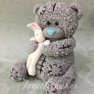 Me to you bear fondant cake topper