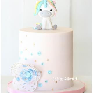 Unicorn, birthday cake for a little girl.