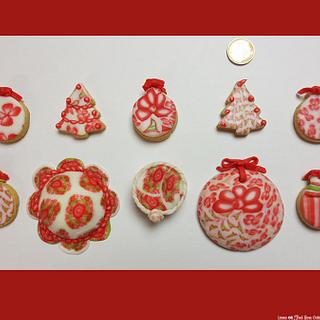 Fondant canes cookies and mini cakes - Cake by Laura Ciccarese - Find Your Cake & Laura's Art Studio