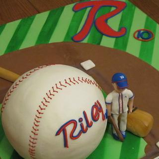 Riley's Baseball Game - Cake by Tonya