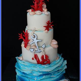 Coral Cake - Cake by Cristina Quinci