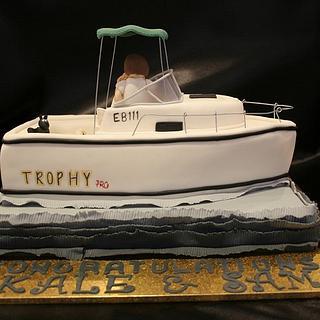 Boat Engagement Cake
