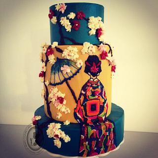 GEISHA - Cake by Queen of Hearts Couture Cakes