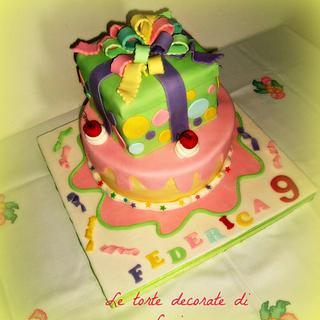 torta pacco regalo - Cake by luciana