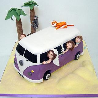 VW Camper Van Wedding Cake