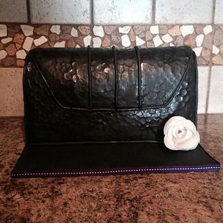 Black purse cake