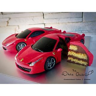 Miniature Ferrari 458 Italia Cake