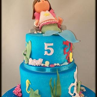 Dora Mermaid Cake