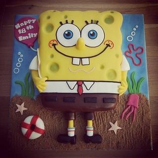 SpongeBob  - Cake by Cushty cakes