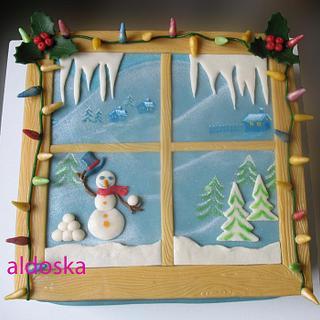 Winter window - Cake by Alena
