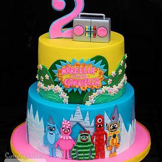 Yo Gabba Gabba Cake  - Cake by Cuteology Cakes
