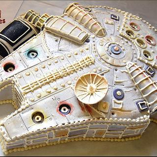 Millenium Falcon Cake  - Cake by Wicked Goodies