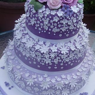 sweetness in mauve and white