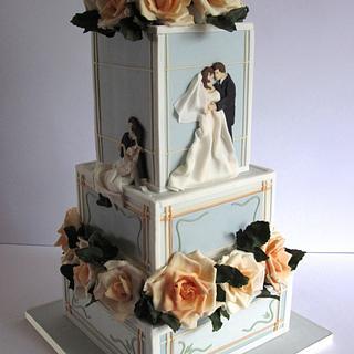 Art Nouveau Wedding Cake