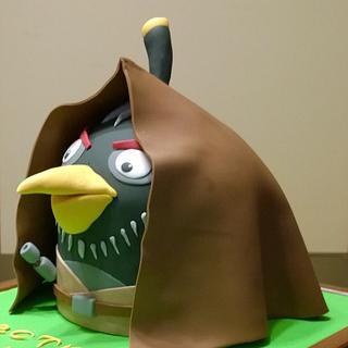 Angry Birds Star Wars Obi-Wan Cake
